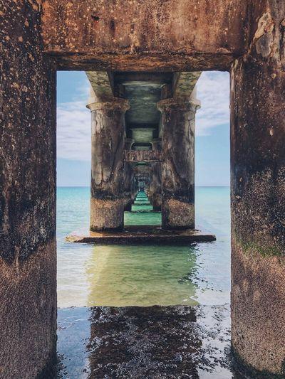 EyeEmNewHere EyeEm EyeEmNewHere Water Sea Architecture Sky Built Structure Nature EyeEmNewHere Beach Pier Travel