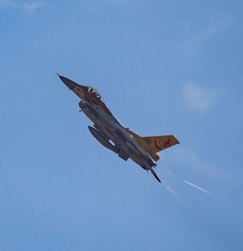 Air Vehicle Aviation Blue Blue Sky Clear Sky Day F-16 Fighting Falcon Flight Flying General Dynamics IAF Israeli Air Force Sky
