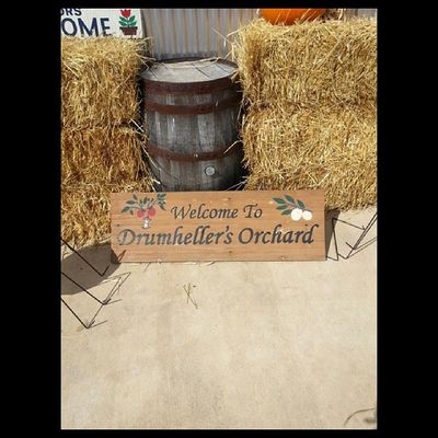 Welcome to Drumheller's Orchard Welcome Sign Drumhellersorchard Appleorchard apple samsung galaxy phone camera instagram