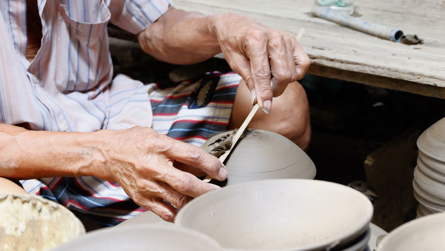 Craft Earthenware Occupation Pottery Pottery Making Working