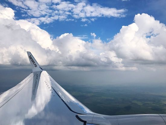 Airplane Cloud - Sky Sky Transportation Journey Airplane Wing Aerial View No People Mode Of Transport Cloudscape Mid-air Aircraft Wing Air Vehicle Day Travel Flying Scenics Nature Outdoors Beauty In Nature TAROM Tarom Airline Boeing 737 Inflight Aviation