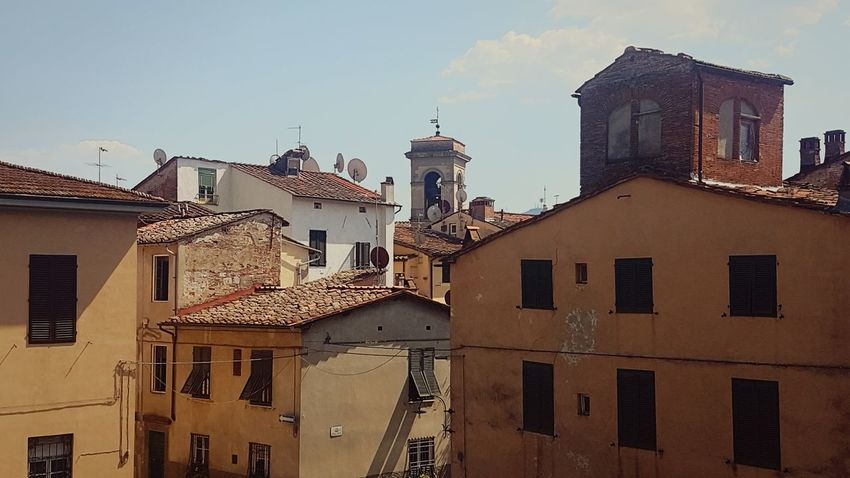Italy Architecture Lucca Italy Tuscany Ancient Travel Destinations Building Exterior Old Buildings Rooftops City Travel Photography Vacation European Architecture Old Architecture Italian Architecture