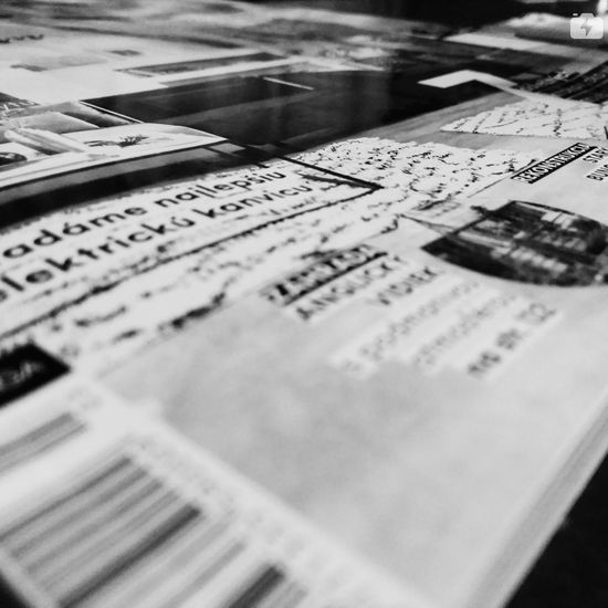 Selective Focus Music Indoors  No People Newspaper Close-up Day The Week On EyeEm