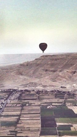 Airballoon egypt Agriculture Hot Air Balloon Rural Scene Landscape Field Nature Scenics Sky No People Outdoors Day