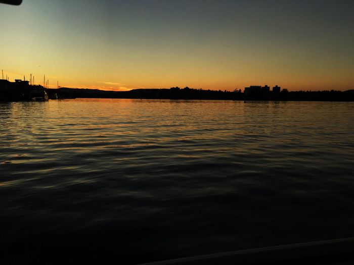 Sunset on the bay in Victoria.
