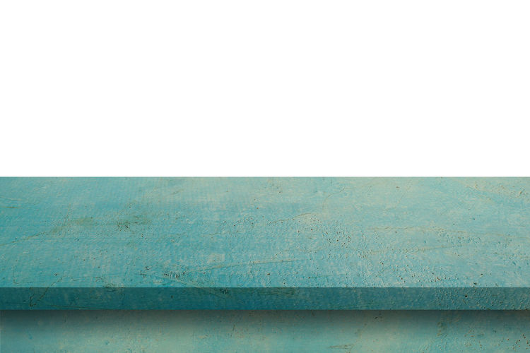 Empty blue wood