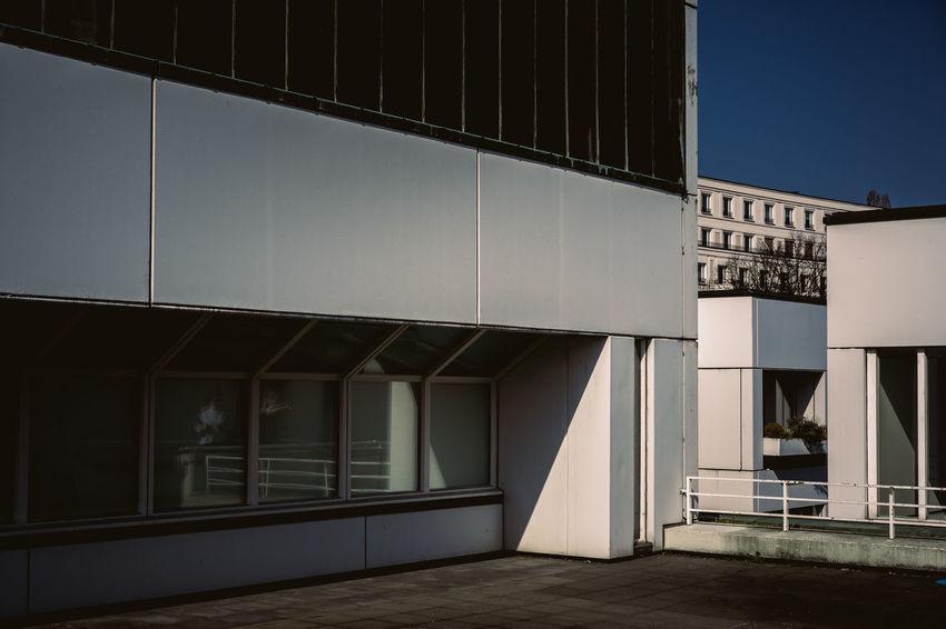 Bauhaus Archives Bauhaus Bauhaus Building Bauhaus Museum Bauhaus Architecture Bauhaus Style Architecture Building Building Exterior Built Structure Business City Clear Sky Day Door Entrance Glass - Material Modern Nature No People Outdoors Reflection Sky Sunlight Window