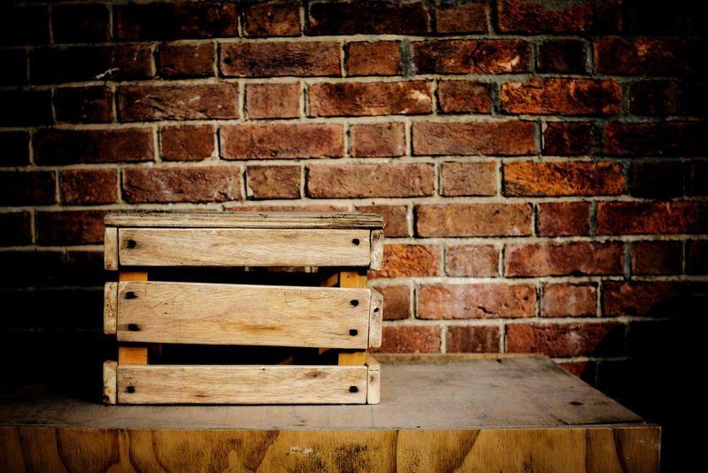 the pandora box Zisunword Box Feel HongKong Brown Art Pandora Capture Pattern Brick Mood Table Wood Carpenter Nail Plate Dig Brick Wall No People Indoors  Day
