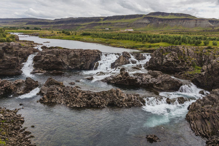 Glanni Waterfall, Iceland Water Scenics - Nature Rock Beauty In Nature Nature No People Environment Landscape Tranquility Flowing Water Fluid Flow  Iceland Scenics