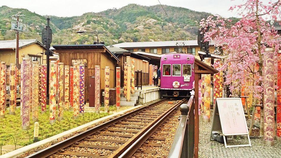 Taking Photos Kyoto Arashiyama Randen 嵐電 Train Train Station