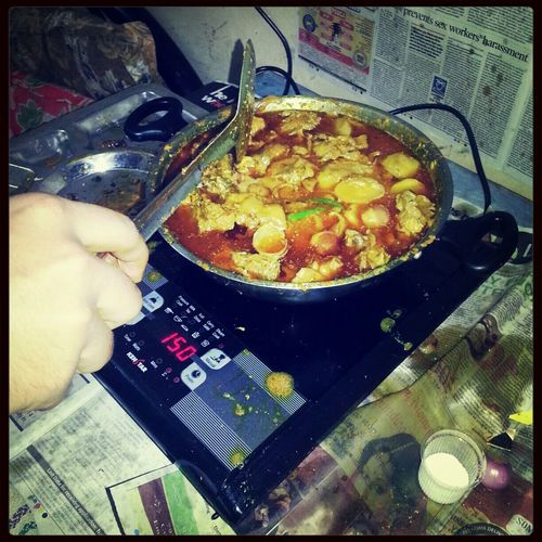 When the food is good, everyone is in mood! Cooking Food