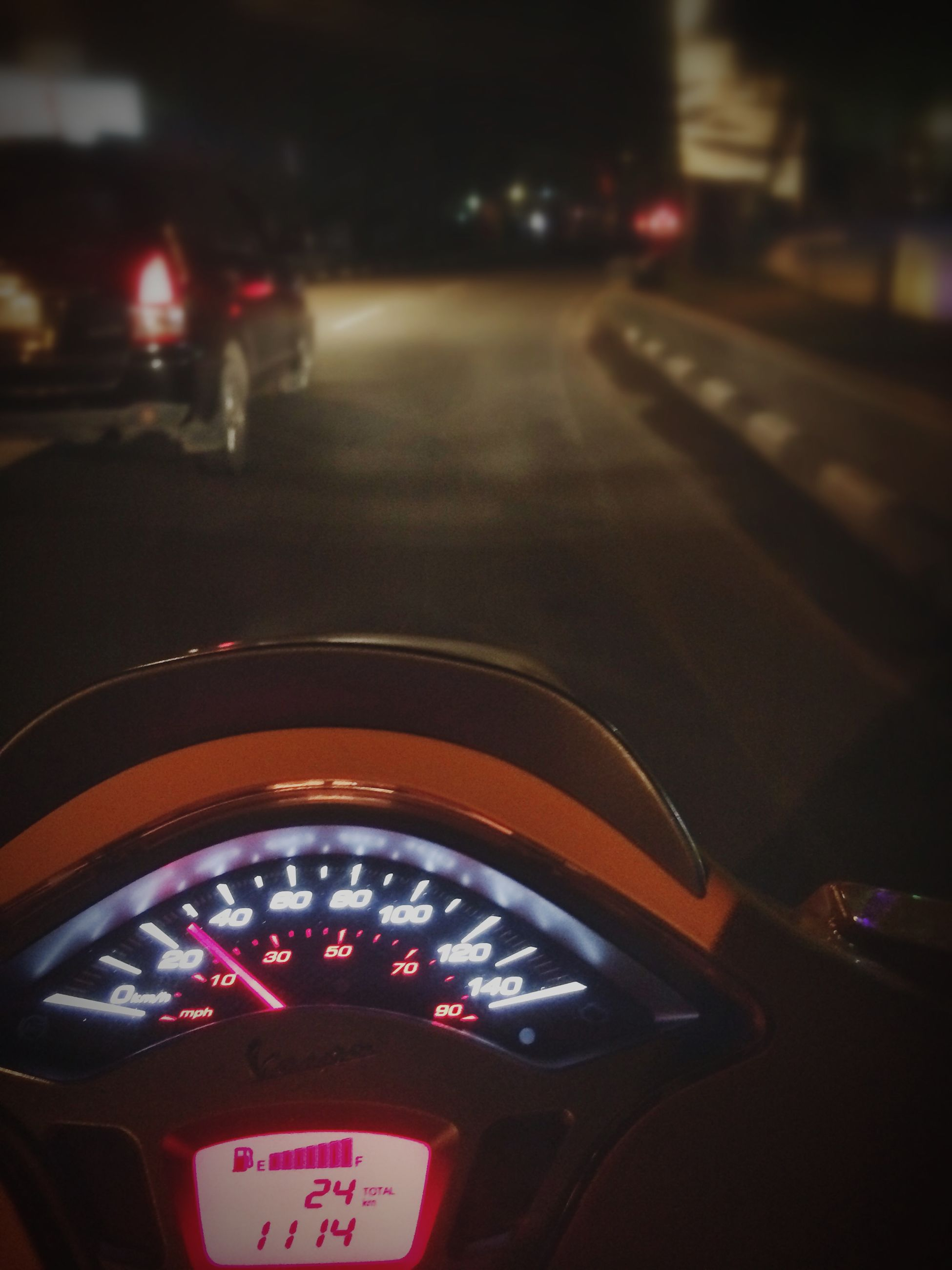 transportation, car, land vehicle, mode of transport, road, car interior, travel, vehicle interior, street, traffic, on the move, illuminated, windshield, dashboard, headlight, night, part of, road marking, car point of view, close-up