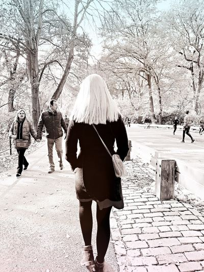 Central Park Real People Walking Women Day Group Of People Lifestyles Rear View People Nature Outdoors EyeEmNewHere