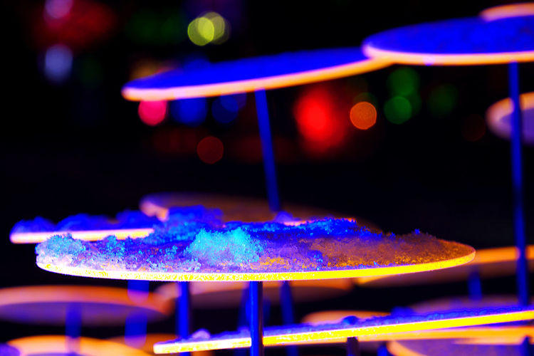 round blue snow Night Light Lichtspiel Bunt Illuminated Ideas Multi Colored Arts Culture And Entertainment Close-up Focus On Foreground Cold Temperature Ice Snow Winter Round Shape Alien Picoftheday Photography Alfpo Pottmeier EyeEmNewHere