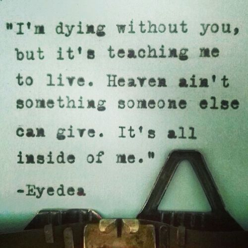 This. ❤️? Lyrics Eyedea Perfect