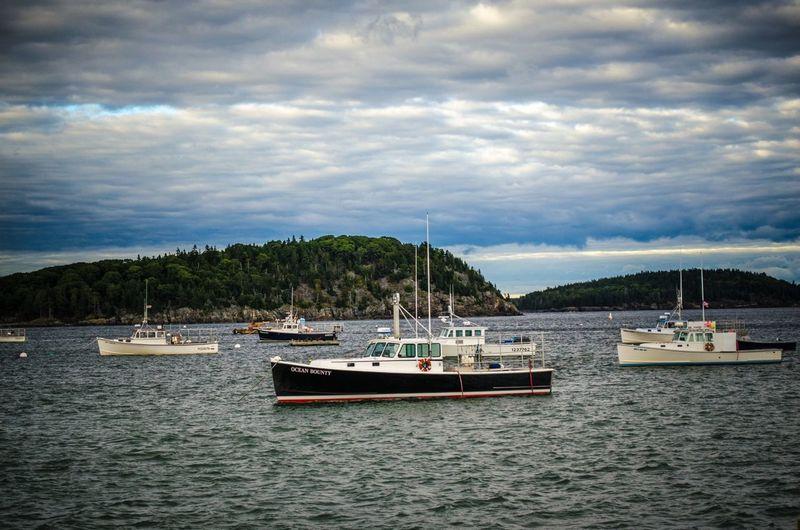 Sky Boats Clouds And Sky Maine