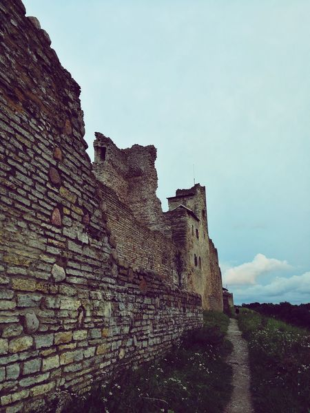 Fortress Wall Fortress Of Stone Fortress View Rakvere Sky Finding New Frontiers Sommergefühle