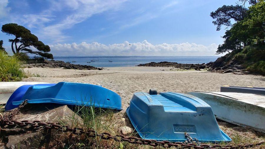 Botconan Bretagne Rocks And Water France Bretagne Water Sea Beach Swimming Blue Sand Summer Sky Horizon Over Water Snorkeling Boat