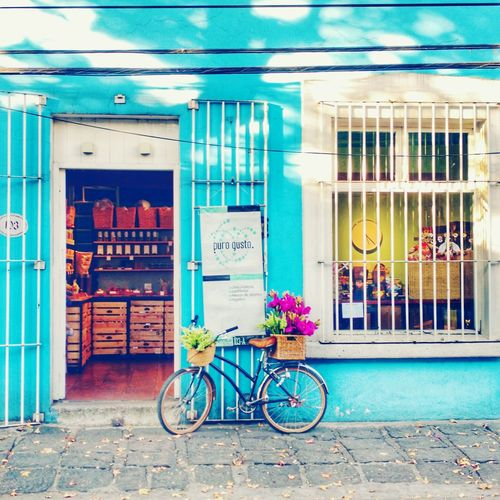 Bicycle Mode Of Transport Transportation Door Building Exterior Built Structure Interesting Places Mexico Travel Destinations Mexico City