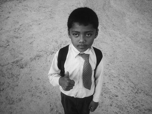 Nepal Pokhara Boy Streetphotography Street Photography Streetphoto_bw Streetphotography_bw Portrait Childhood Black And White Friday
