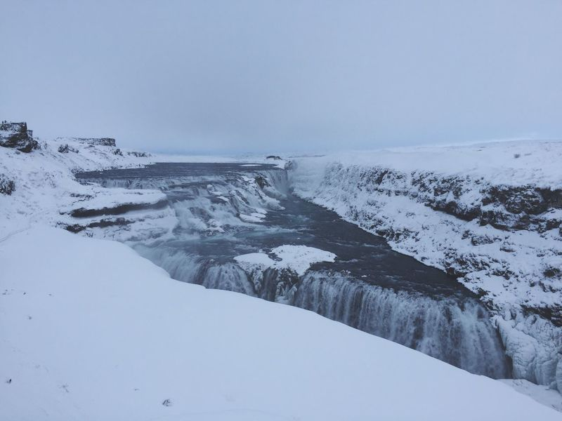 Iceland Gullfoss Gullfoss Falls Winter Goldencircle Goldencircletour February Snow Silence First Eyeem Photo