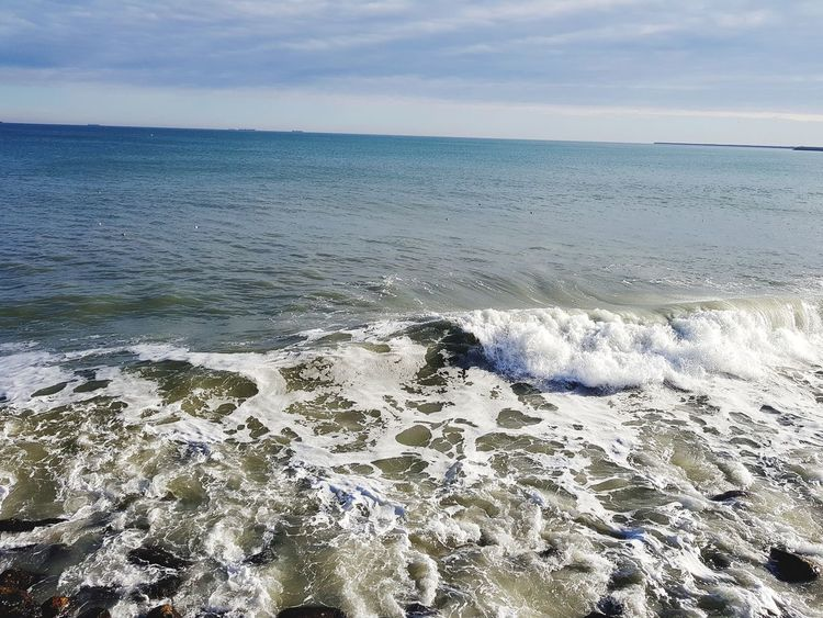 Waves of the sea EyeEm Nature Lover Black Sea♥ Beach Sea Sand Horizon Over Water Nature Outdoors Beauty In Nature Water Tranquility Scenics Sky Landscape No People Horizon