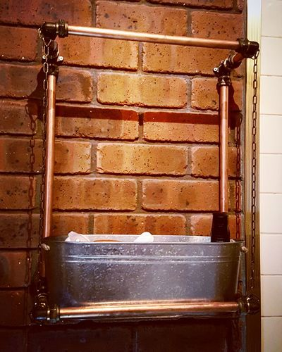 Brick Wall No People Outdoors Day Architecture Water copper Shabbychic Interior Design Copper Art Copper  Shabby Chic Brick Wall Business Finance And Industry