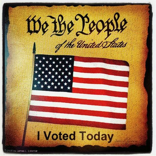 Happy to exercise my privilege to vote! Electionday2012 Suffrage Proudtovote