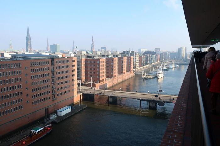 Elbphilharmonie Hamburg Elbphilharmonie Plaza Hamburg Hamburger Hafen Speicherstadt Hamburg Bridge Outdoors Water