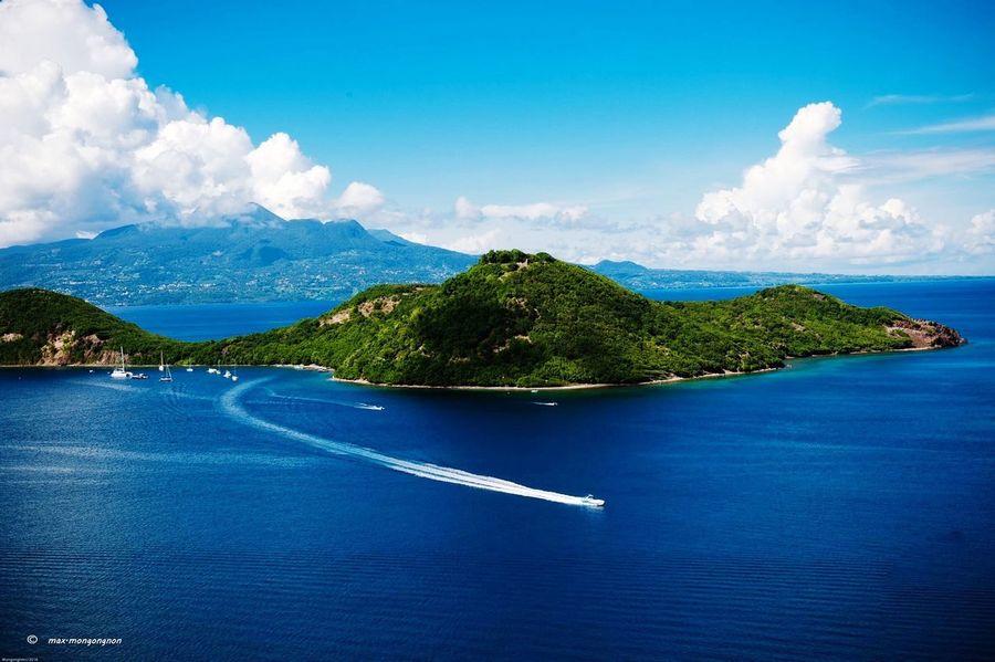 Îlet à Cabrit Sea Blue Nautical Vessel Nature No People Tranquil Scene Beauty In Nature