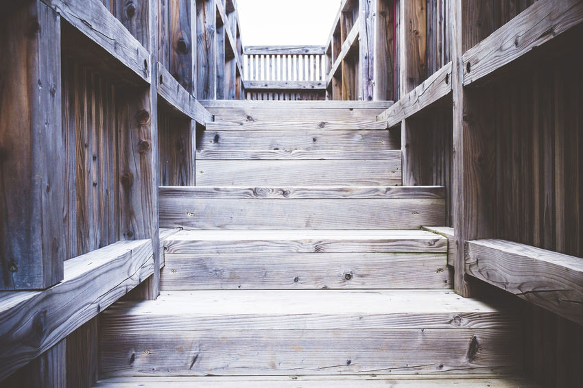 Construction Railing Stairs Steps Wall Winter Abandoned Aisle Architecture Beams Built Structure Carpentry Floor Framework Gangway Nobody Old Rừng Structure Texture Tunnel Vintage Walls Wood - Material Wood Paneling