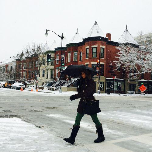 U Street Crossing Snow Washington, D. C. Crosswalk Streetphotography