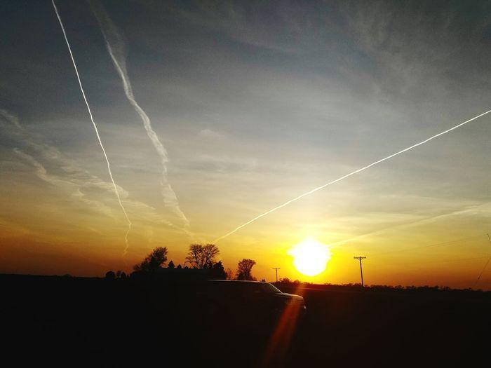 Sky Line. Sunset