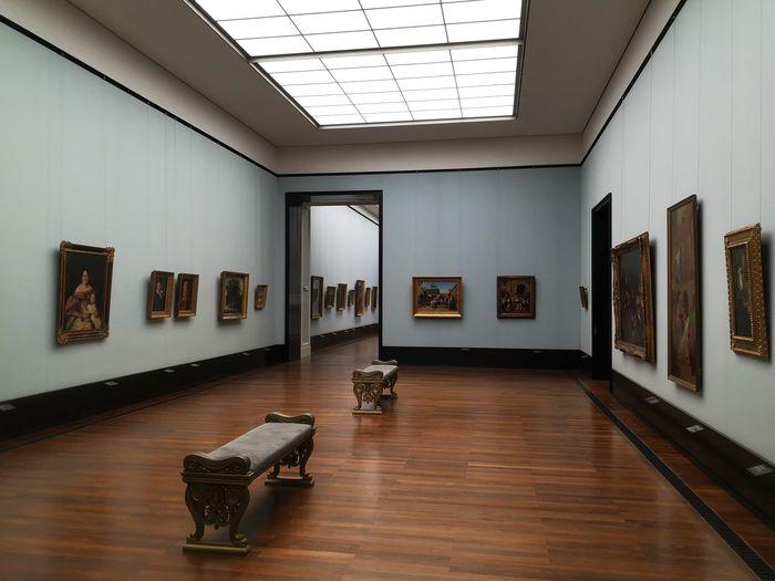 Interior of empty museum