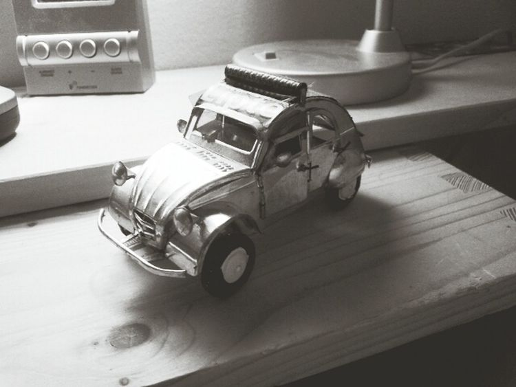 Miniature Car made of Lipton Ice Tea cans. Black & White First Eyeem Photo