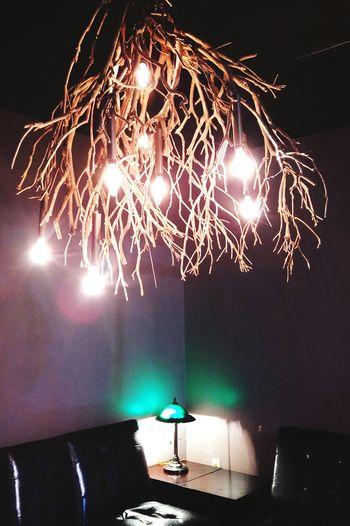 Light bulbs hanging at home