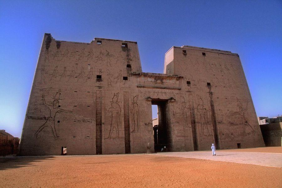 Blue Architecture History Built Structure Sky Outdoors Day Egypt Egyptology Phaedra Hathor Mithology Tomb Ancient Architecture Ancient Civilization Ancient History Tourism Travel Destinations