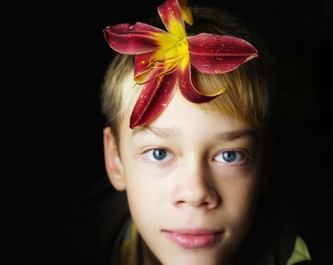 Portrait One Person People Human Face Red Flower Boy EyeEm New Selects EyeEmNewHere SONY A7ii Young Boy Adult People Fashion Stories The Portraitist - 2018 EyeEm Awards
