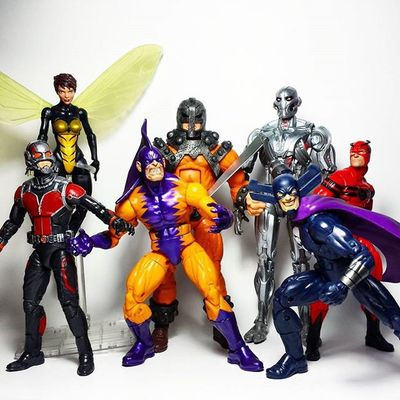 The entire wave! Got some pretty decent figures out of it. Marvel Marvellegends Marvelcomics Marvelnation MarvelFan Toyfan Actionfigure Toys Toyphotography Toypizza Toysarehellasick Toycollector Toycommunity Toycollection Thefigureverse Disney Hasbro Antman Giantman Wasp Ultron Grimreaper Bulldozer Tigershark