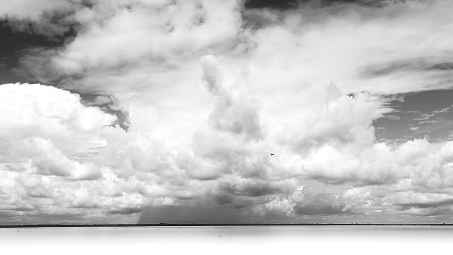 Down In The Past - Storm over Tonle Sap in Cambodia EyeEm Nature Lover EyeEm Best Edits Eye4photography  Monochrome Edge Of The World Tonlesap