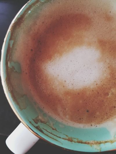 Saturday morning ☕ Food And Drink Drink Close-up Espresso Crema Coffee Foam Coffee Time Coffee ☕ Coffee Mug Cafe Au Lait Café ! Cafe Latte Milk Foam Coffee No People Day Frothy Drink Green Cup Green Cup Coffee Green Mousse Mousse De Lait Softness Softtones