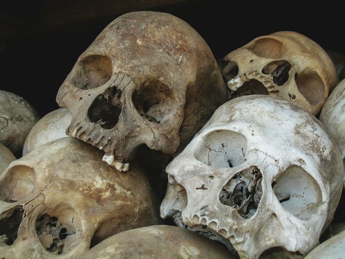Killing Field, Cambodia. If you dont know about it you should google it.