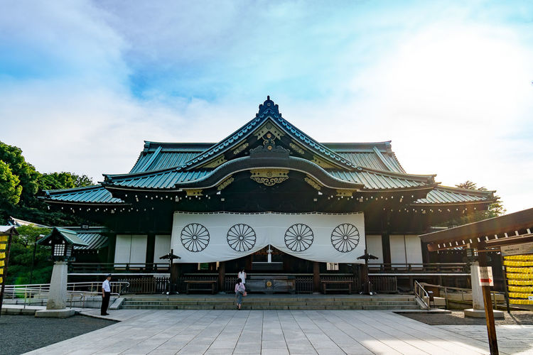 Yasukuni Shrine in Evening. The beautiful shrine in Tokyo, Japan. Architecture Arrival Building Exterior Business Finance And Industry City Cityscape Cloud - Sky Day Entrance Horizontal No People Outdoors Pavilion Sky Steps Tourism Travel Travel Destinations Yasukuni Yasukuni Shrine