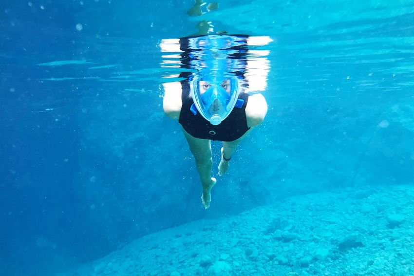 Underwater Sport Diving Snorkeling EyeEm Selects Water Underwater Real People Swimming One Person Sea Blue Full Length UnderSea Nature Young Adult Young Women Outdoors