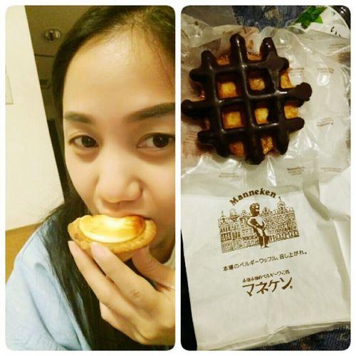 Eggtart Chessecake  Belgium Chocolate Wafel Japan January2016 Food Ikebukurostation Akihabara Station