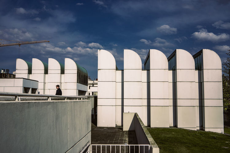 Bauhaus Archives Bauhaus Bauhaus Building Bauhaus Museum Bauhaus Architecture Bauhaus Style Architecture Building Building Exterior Built Structure City Cloud - Sky Day Factory Industry Low Angle View Modern Nature No People Outdoors Railing Sky Sunlight Travel Wall