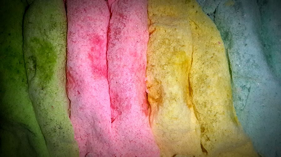 Backgrounds Abstract Textured  Full Frame Built Structure Multi Colored No People Day Close-up Levels Level Surface Shoping Indoors  Pattern Mixcolour Mixcolors Sweet Sweets Pastel Light Green Color Pink Color Yellow Color Light Blue Color EyeEmNewHere
