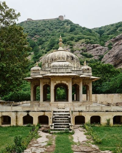 Ancient Ancient Civilization Arch Architectural Column Architecture Building Exterior Built Structure Clear Sky Day Dome Green Color Growth History Incredible India Nature No People Outdoors Pavilion Plant Sky The Past Tourism Travel Travel Destinations Tree