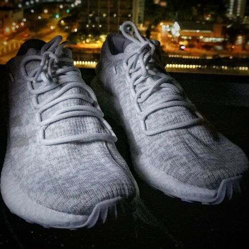 Clean Pure Boost Adidas Boost Adidasboost Run Runningshoes PureBoost Singapore View