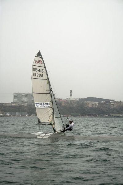 Sport sailing in Vladivostok Adventure Club Building Sailboat Sailing Sail Seascape Sea Seaside Seacoast Sport Waves Sailer Speed Man Bay Wind
